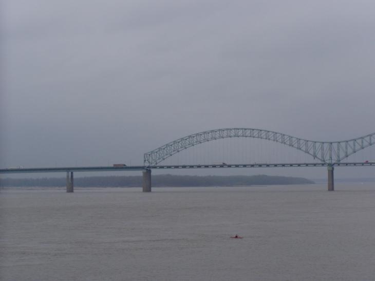 El espectacular río Mississippi a su paso por Mephis. | Foto José Luis González