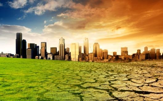 Representación del cambio climático.