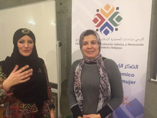 Asma Lambrabet, tras una ponencia en un Congreso