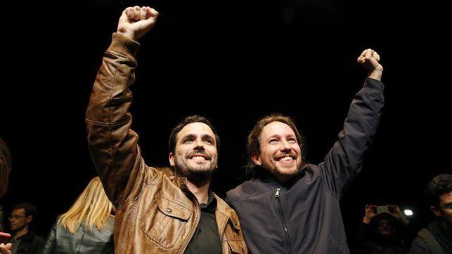Alberto Garzón y Pablo Iglesias. | ELDIARIO.ES