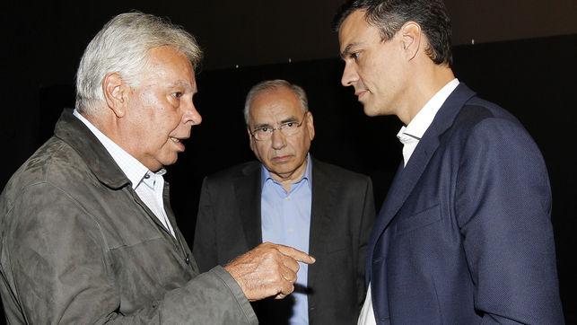 Felipe González, Alfonso Guerra y Pedro Sánchez. | Eldiario.es
