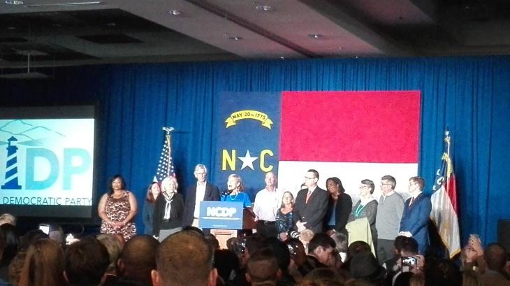 Comparencia de los demócratas de Carolina del Norte en la noche electoral. | FOTO JLG