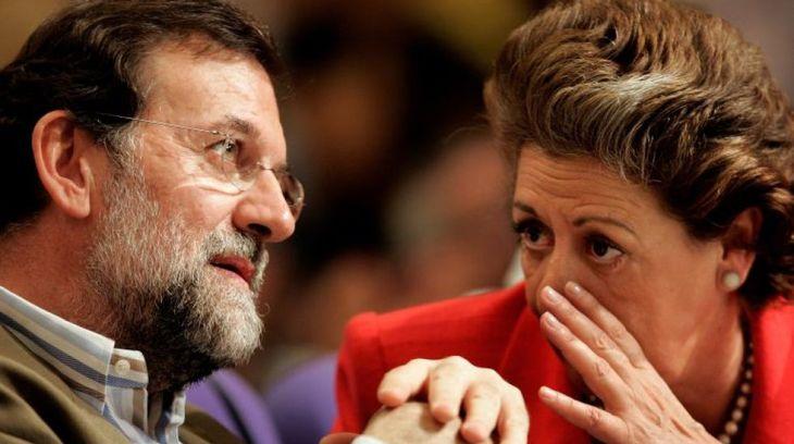 Rajoy y Rita Barberá durante un acto pasado del Partido Popular. | FOTO CUATRO