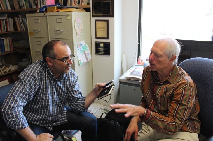 Entrevista a Dan Hallin, en la Universidad de California San Diego. | Foto Carmen López-Rico