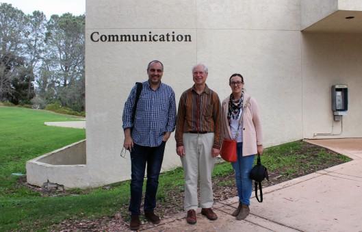 Con el profesor Dan Hallin en el Departamento de Comunicación de la Universidad de California San Diego
